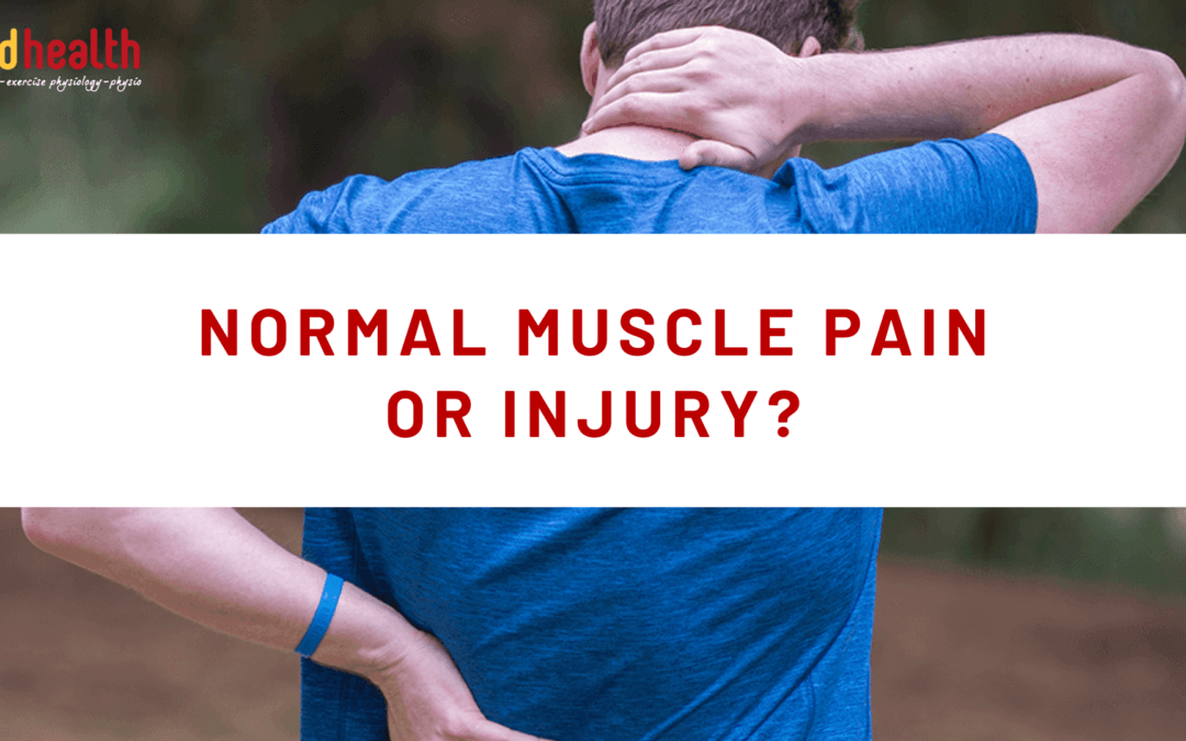 Normal Muscle Pain or Injury?
